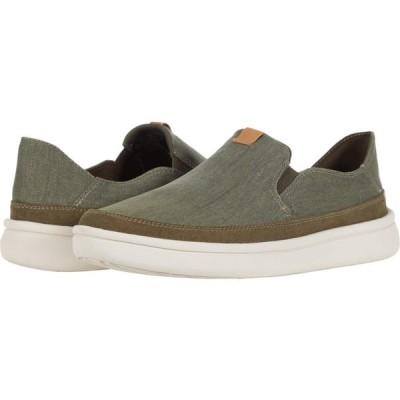 クラークス Clarks メンズ スニーカー シューズ・靴 Cantal Step Olive Canvas