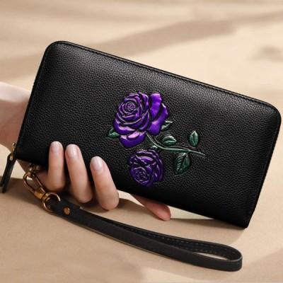 【全5色】蝶々 本革財布 牛革 レディース財布 婦人財布 ロングウォレット 可愛い かわいい 財布 レデイース レディス
