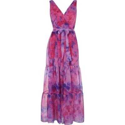 ダナ キャラン ニューヨーク DKNY レディース ワンピース ティアードドレス ワンピース・ドレス Printed Surplice Tiered Maxi Dress Pink PKP