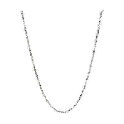 Verona Jewelers スターリングシルバー ダイヤモンドカット 2mm スパークルチェーンネックレス クリスクロスネックレス 輝くネックレス