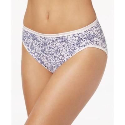 バニティフェア Vanity Fair レディース ショーツのみ Illumination Hi-Cut Brief Underwear 13108, also available in extended sizes Tranquil Lace