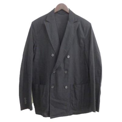 COMOLI 15SS リネンウールWジャケット ネイビー サイズ:1 (原宿店) 200929