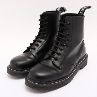 ドクターマーチン レザー ブーツ UK7 メンズ ブラック 8ホール