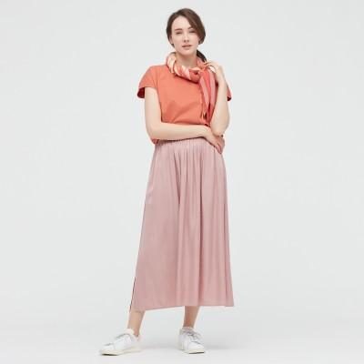 シャイニーギャザーロングスカート(丈標準81~85cm)