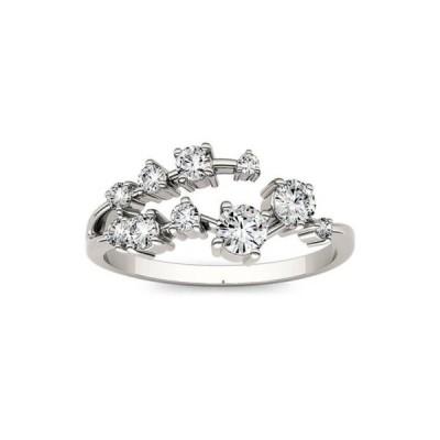 チャールズ アンド コルバード レディース リング アクセサリー 1/2 ct. t.w. Lab Created Moissanite Galaxy Fashion Ring in 14K White Gold