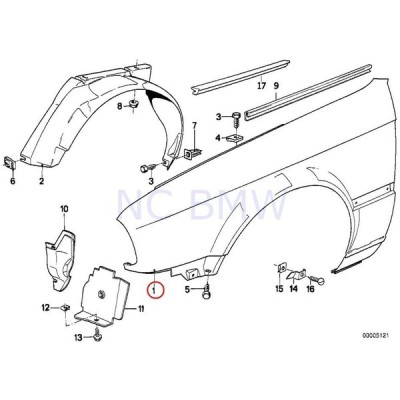 BMW Genuine Front Right Side Panel