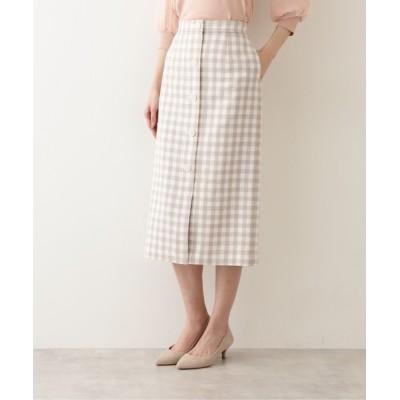 NATURAL BEAUTY BASIC / ギンガムタイトスカート WOMEN スカート > スカート