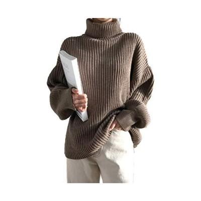 ONE UMB ワンアンブ ニット ハイネック セーター トップス 長袖 カットソー ニットソー リブ タートルネック プルオーバー ゆったり きれい
