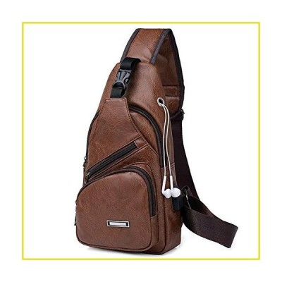 送料無料 メンズリュック AOLIDA Men Sling Bag PU Leather Unbalance Chest Shoulder Bags Casual Crossbody Bag Travel Hiking Daypacks