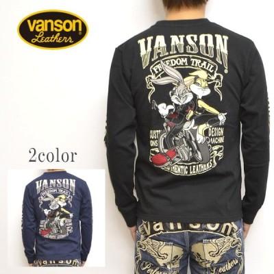 バンソン VANSON ルーニーテューンズ LTV-925 天竺 長袖Tシャツ ロンT バッグスバニー メンズ トップス