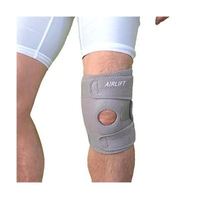 AIRLIFT 膝用サポーター 膝 サポーター バツグンの固定力でつらいひざ痛を緩和・サポート 男女兼用 グレー(右ひざ用)
