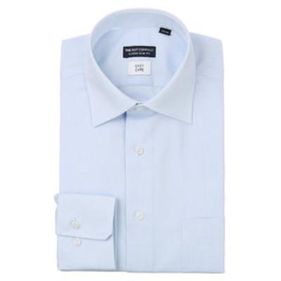 ワイドカラードレスシャツ 織柄 〔EC・CLASSIC SLIM-FIT〕