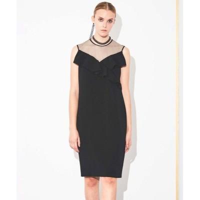 EPOCA/エポカ バックサテンジョーゼット ドレス ブラック1 38