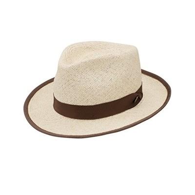 Stetson & Dobbs tstrunn1922メンズRunabout Twisted Panama Fedora Hat カラー: ブラウン
