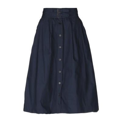 ANTIK BATIK 7分丈スカート ダークブルー 36 コットン 100% 7分丈スカート