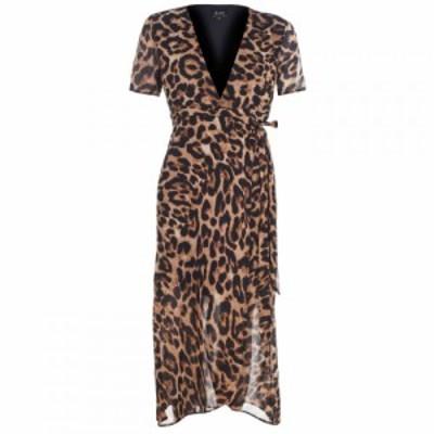 バルドー Bardot レディース ワンピース ワンピース・ドレス BD Leopard Wrap Drs BOLD LEOPARD