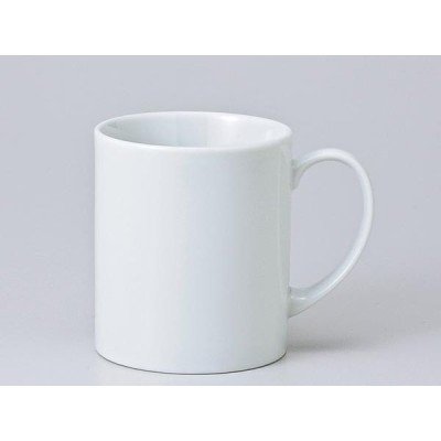 マグカップ おしゃれ/ 白エイトマグ /業務用 ホワイト シンプル コーヒー 名入れ オリジナル作成 ポイント消化