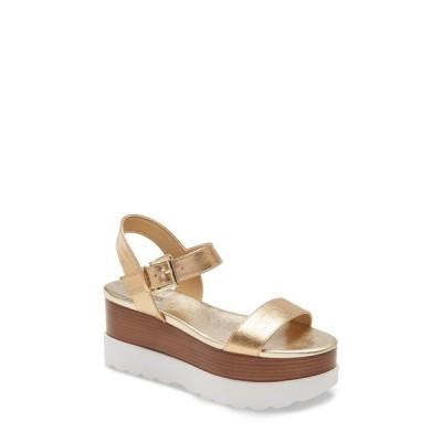 マイケルコース サンダル シューズ レディース Marlon Platform Sandal Pale Gold Leather