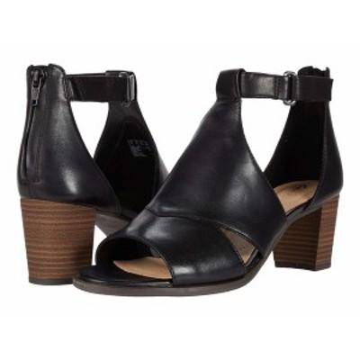 クラークス レディース ヒール シューズ Kaylin Glad Black Leather