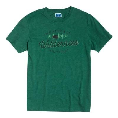 ジェイクルー J.Crew 半袖Tシャツ Wilderness Outpost Tee グリーン Green