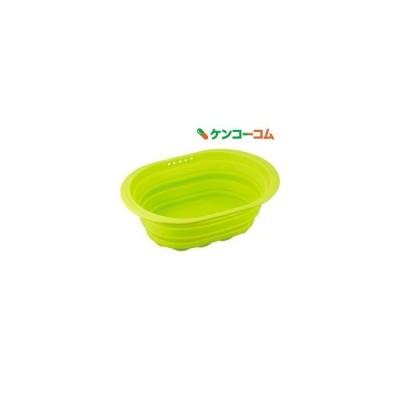スキッとシリコーン 小判型洗い桶 グリーン SR-4882 ( 1コ入 )/ スキッとシリコーン