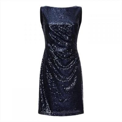 アリエラ ロンドン Ariella London レディース ワンピース ワンピース・ドレス Ariella Balin Sequin Fitted Dress NAVY