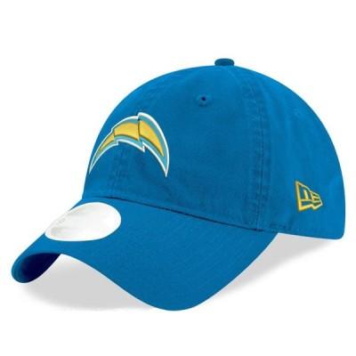レディース スポーツリーグ フットボール Los Angeles Chargers New Era Women's Core Classic Primary 9TWENTY Adjustable Hat - Blue - OS