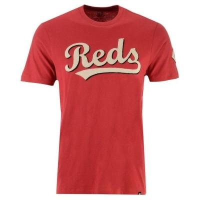 47ブランド メンズ Tシャツ トップス Men's Cincinnati Reds Fieldhouse Basic T-Shirt