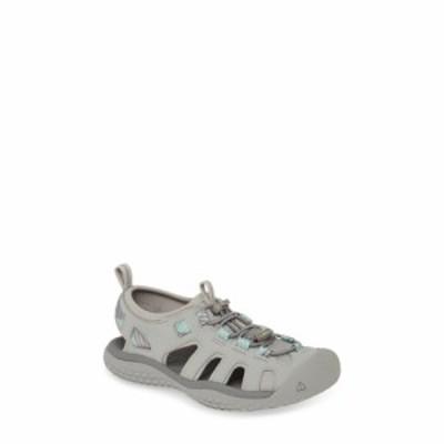 キーン KEEN レディース サンダル・ミュール シューズ・靴 Solar Sandal Light Gray/Ocean Wave Fabric