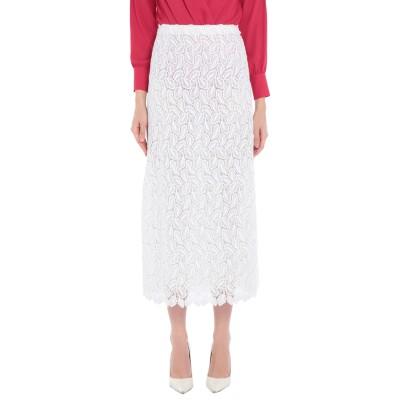 ジャンバ GIAMBA ロングスカート ホワイト 40 ポリエステル 100% / コットン / レーヨン ロングスカート