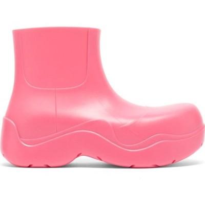 ボッテガ ヴェネタ Bottega Veneta レディース ブーツ ショートブーツ シューズ・靴 BV Puddle biodegradable-rubber ankle boots Pink