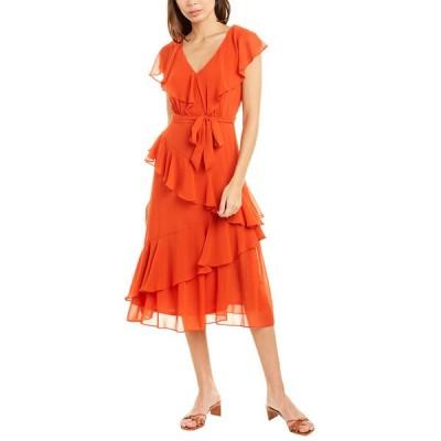 メゾン タラ ワンピース トップス レディース Maison Tara Tiered Ruffle Midi Dress spice