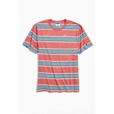 チャンピオン Champion メンズ Tシャツ トップス Yarn Dye Striped Tee Pink
