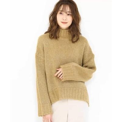 MK MICHEL KLEIN homme / 【洗える】ハイネックラメニット WOMEN トップス > ニット/セーター