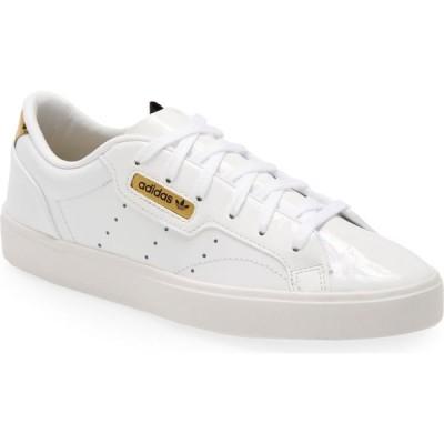 アディダス ADIDAS レディース スニーカー シューズ・靴 Sleek Leather Sneaker White/Crystal White/Gold