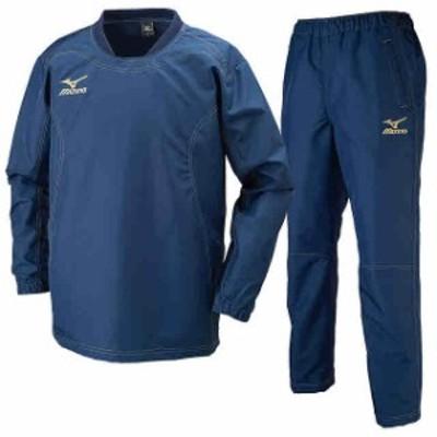 ミズノ タフブレーカーシャツ&パンツ 上下セット ドレスネイビー×ドレスネイビー  MIZUNO R2ME6002-14-R2MF6002-14