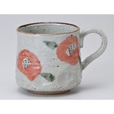 コーヒー カップ コップ/ 朱椿駒型マグ /業務用 家庭用 人気 ギフト 贈り物 花 フラワー おしゃれ かわいい インスタ