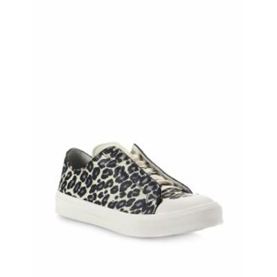 アレキサンダーマックイーン メンズ スニーカー Leopard Printed Leather Low-Top Sneakers
