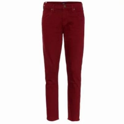 シチズン ジーンズ・デニム Elsa mid-rise cropped slim jeans Carmine