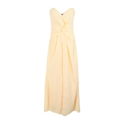 SELF-PORTRAIT ロングワンピース&ドレス イエロー 8 ポリエステル 100% ロングワンピース&ドレス