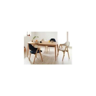 北欧デザイン ダイニングテーブルセット 5点 Bタイプ / 4人用 無垢 天然木 おしゃれ p