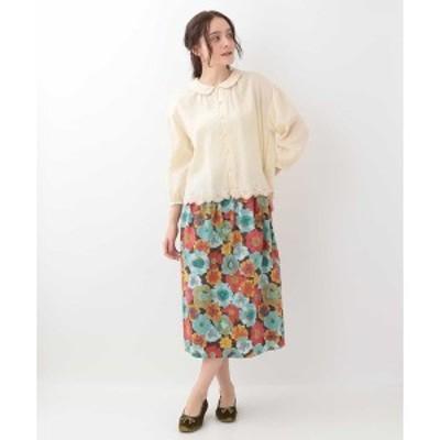 ホコモモラ(JOCOMOMOLA)/Flor boreal フラワープリントスカート