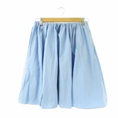 【中古】マカフィー MACPHEE トゥモローランド スカート フレア ギャザー ひざ丈 青 ブルー 水色 /KI13 ☆ レディース