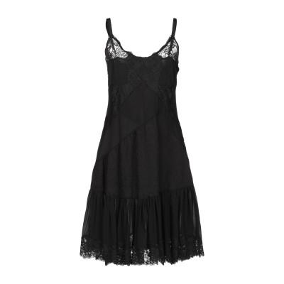 セミクチュール SEMICOUTURE ミニワンピース&ドレス ブラック 42 シルク 89% / ポリウレタン 11% / カシミヤ / ナイロン