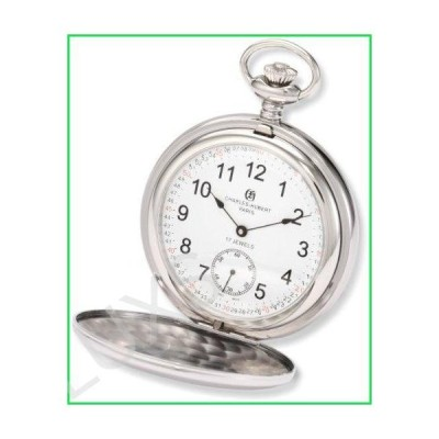 Charles-Hubert, Paris 3907-WRR Premium Collection Stainless Steel Polished Finish Double Hunter Case Mechanical Pocket Watch 並行輸入