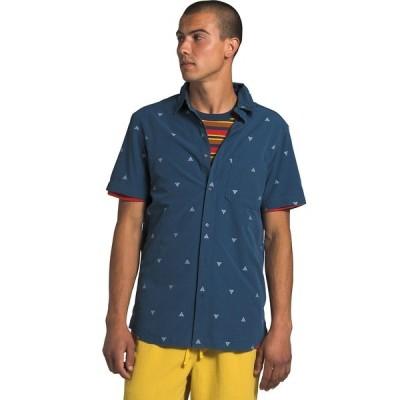ノースフェイス シャツ メンズ トップス Short Sleeve Baytrail Shirt - Men's Shady Blue Arrowhead Jacquard