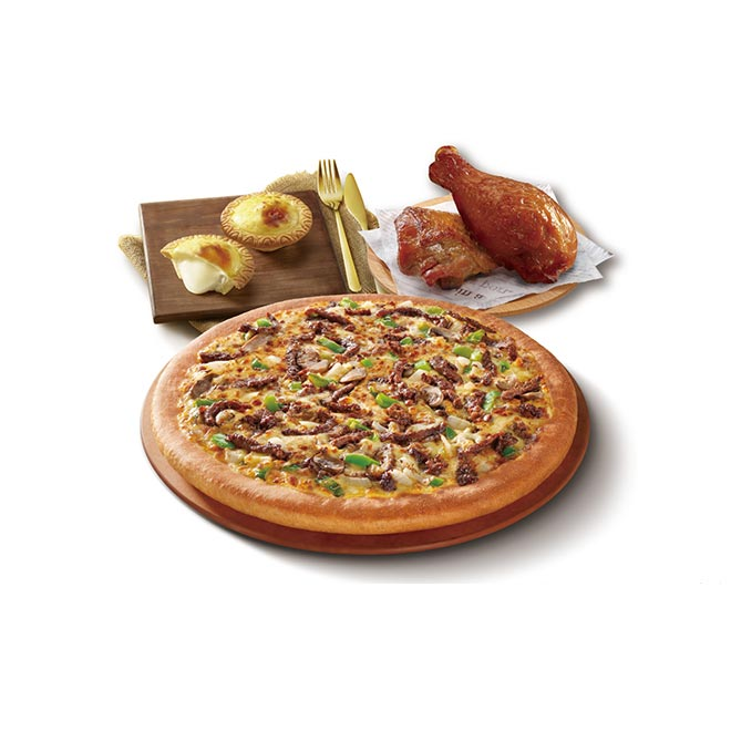 [Fun心在家] 必勝客 九吋鬆厚比薩豪華點心套餐即享券