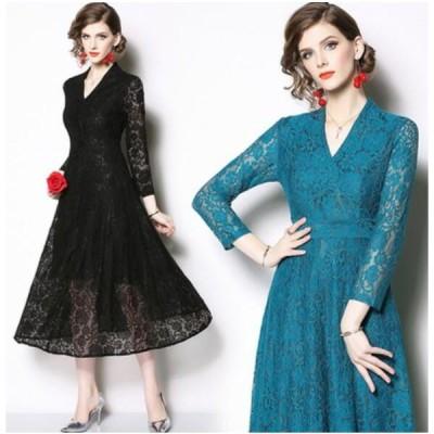 パーティードレス ロングドレス ワンピース vネック 結婚式ドレス お呼ばれ 二次会 ゲストドレス ブライズメイド ドレス 着痩せ 大きいサイズ3XL 短納期