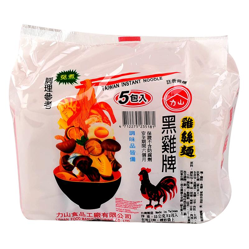 黑雞牌雞絲麵55g*5(免煮)