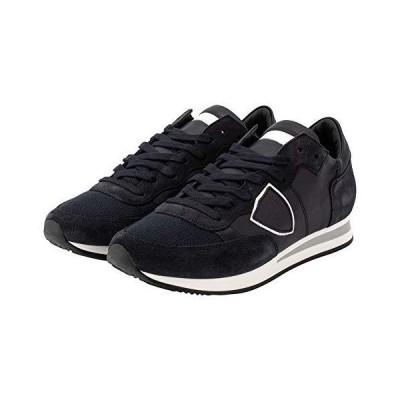 [PHILIPPE MODEL PARIS] [ フィリップモデル パリ 靴 トロペ TRLU5005 BLEU ブルー TROPEZ LOW UOMO VEAU スニーカー シューズ メ?
